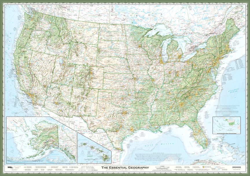 Map Of United States The Essential Geography Of The United States - Us-map-map