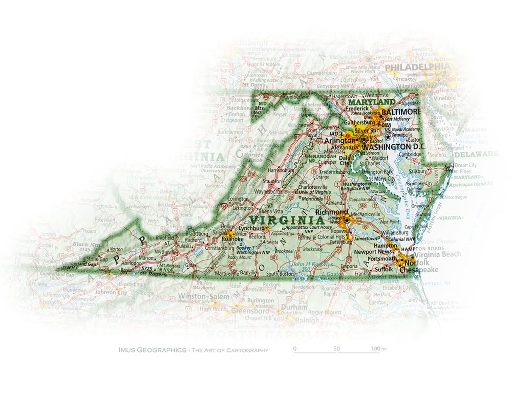Maryland And Washington DC State And Regional Portraits - United states map washington dc