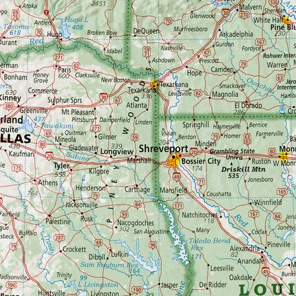 Map Of Texas Louisiana.Piney Woods Texas Louisiana And Arkansas Rediscover The Usa