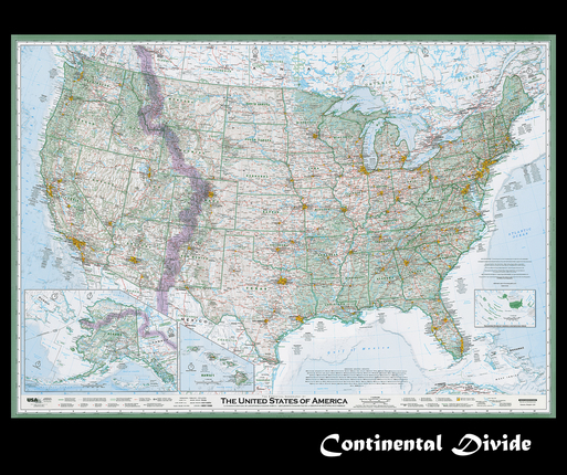 Continental Divide On Us Map.Continental Divide Rediscover The Usa