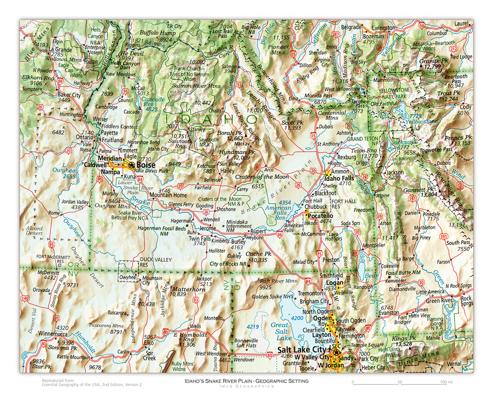 Idaho's Snake River Plain - Geographic Setting | State and Regional Portraits