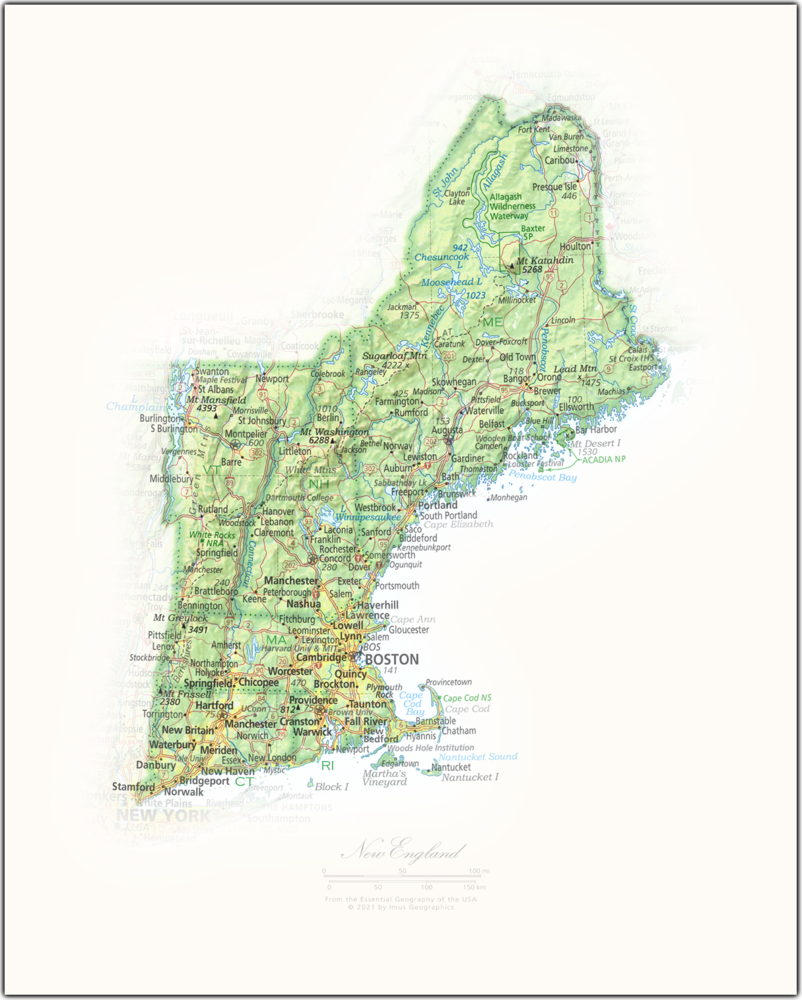 New England   State and Regional Portraits
