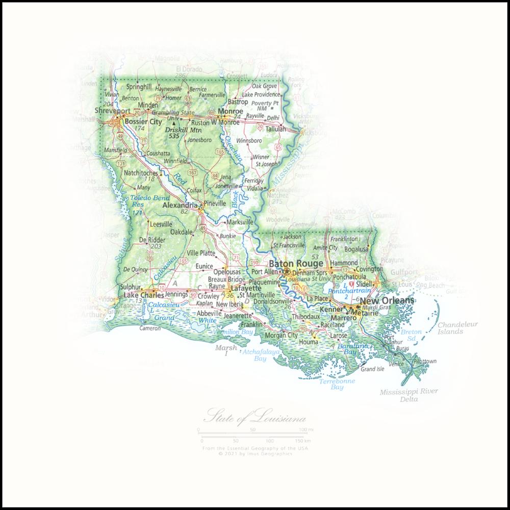 State of Louisiana   State Portraits