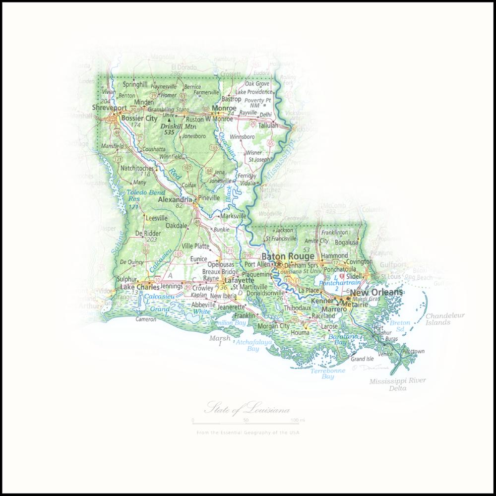 Portrait of Louisiana   NEW: State and Regional Portraits