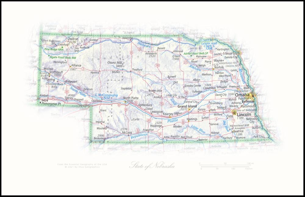 State of Nebraska   State and Regional Portraits