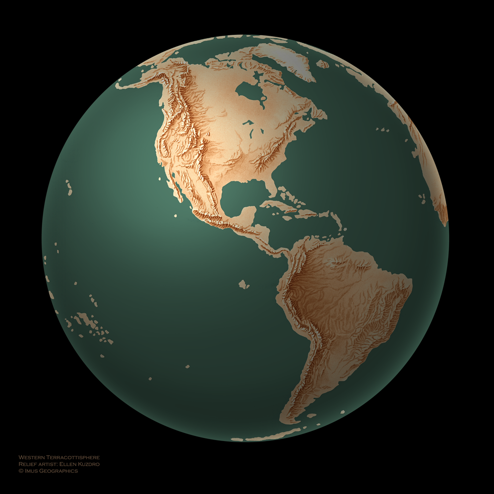 Western Terracottisphere | Cartographic Art