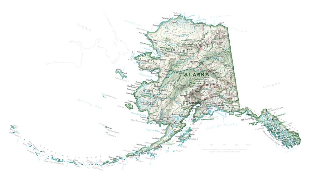 State of Alaska | Cartographic Art