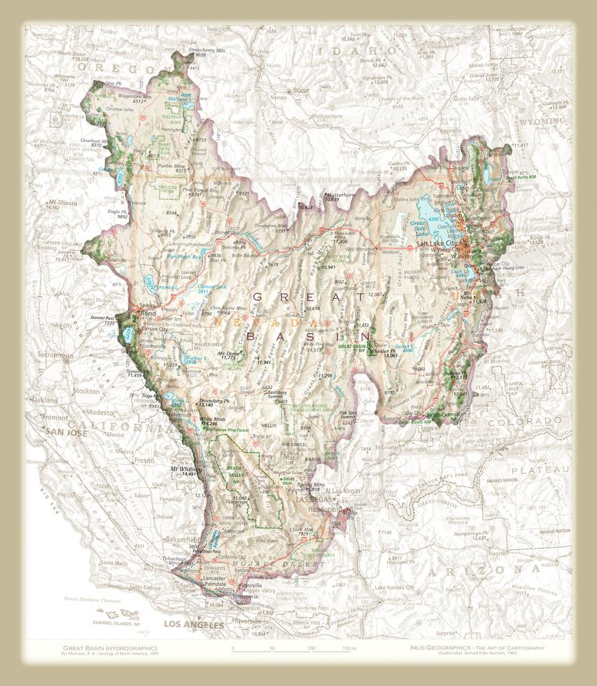 Great Basin | Cartographic Art