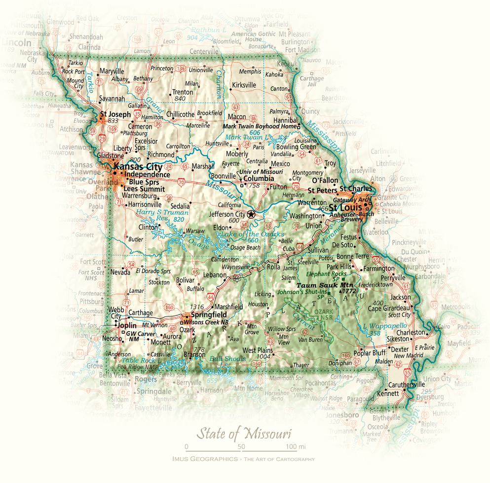 State of Missouri | Cartographic Art