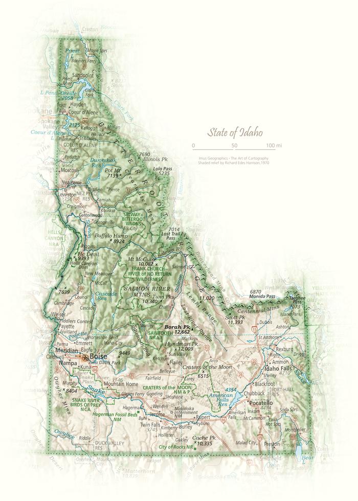 State of Idaho | Cartographic Art