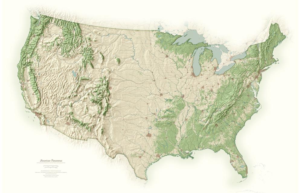 American Panorama | Cartographic Art