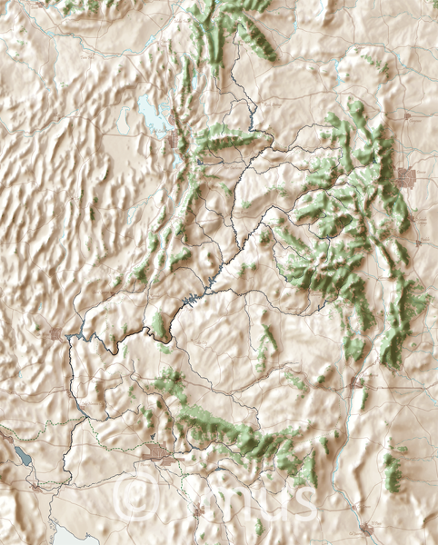 Land of the Colorado | Cartographic Art