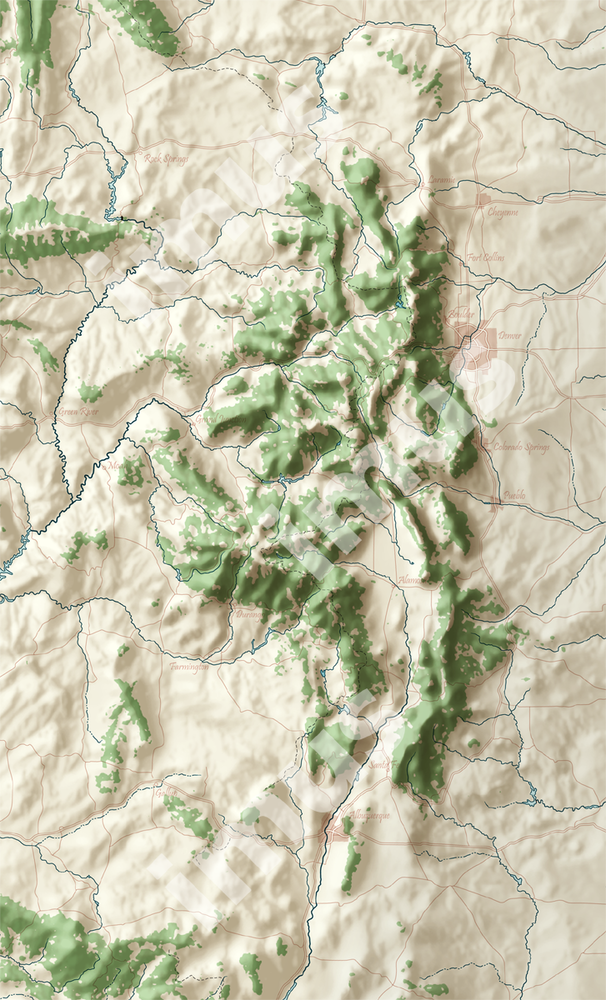 Southern Rockies | Cartographic Art