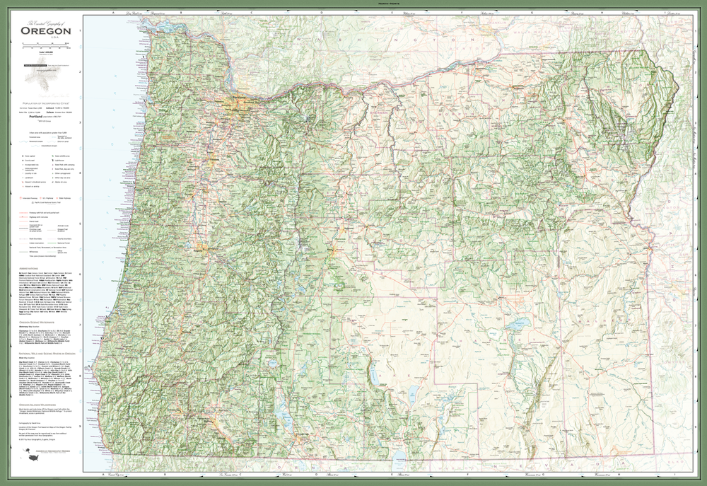 Pre-Order: The Essential Geography of Oregon | Cartographic Art