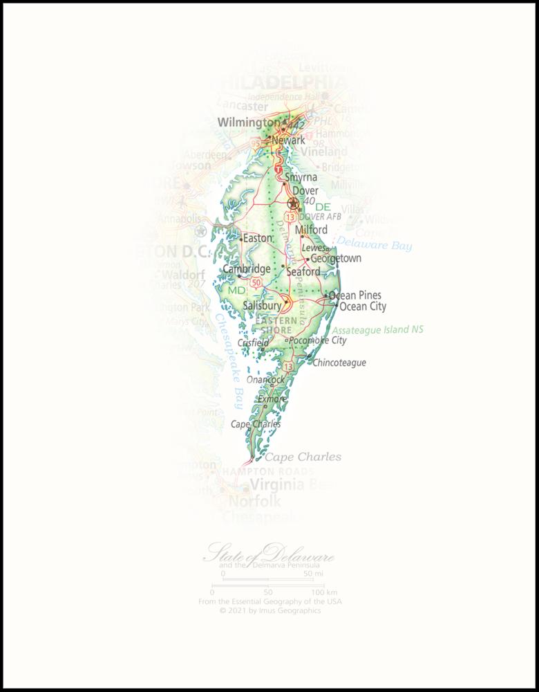 Portrait of Delaware and the Delmarva Peninsula   State and Regional Portraits