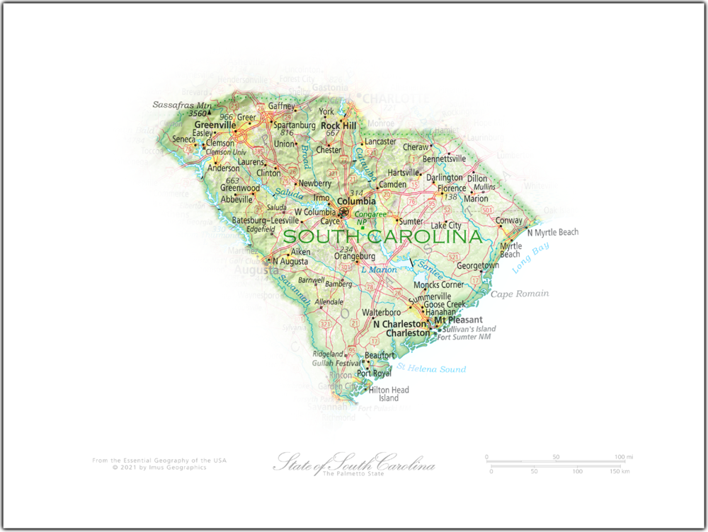 Portrait of South Carolina   NEW: State and Regional Portraits