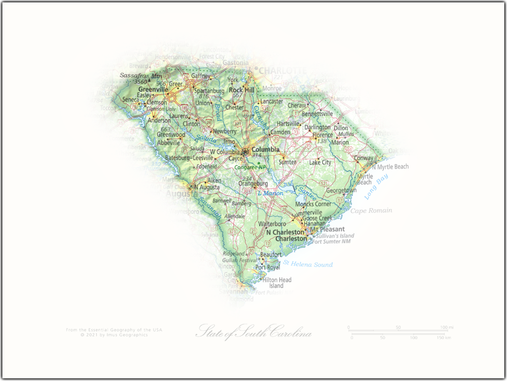 State of South Carolina   State and Regional Portraits