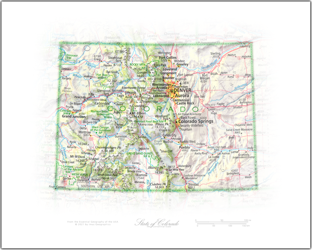 Portrait of Colorado   NEW: State and Regional Portraits