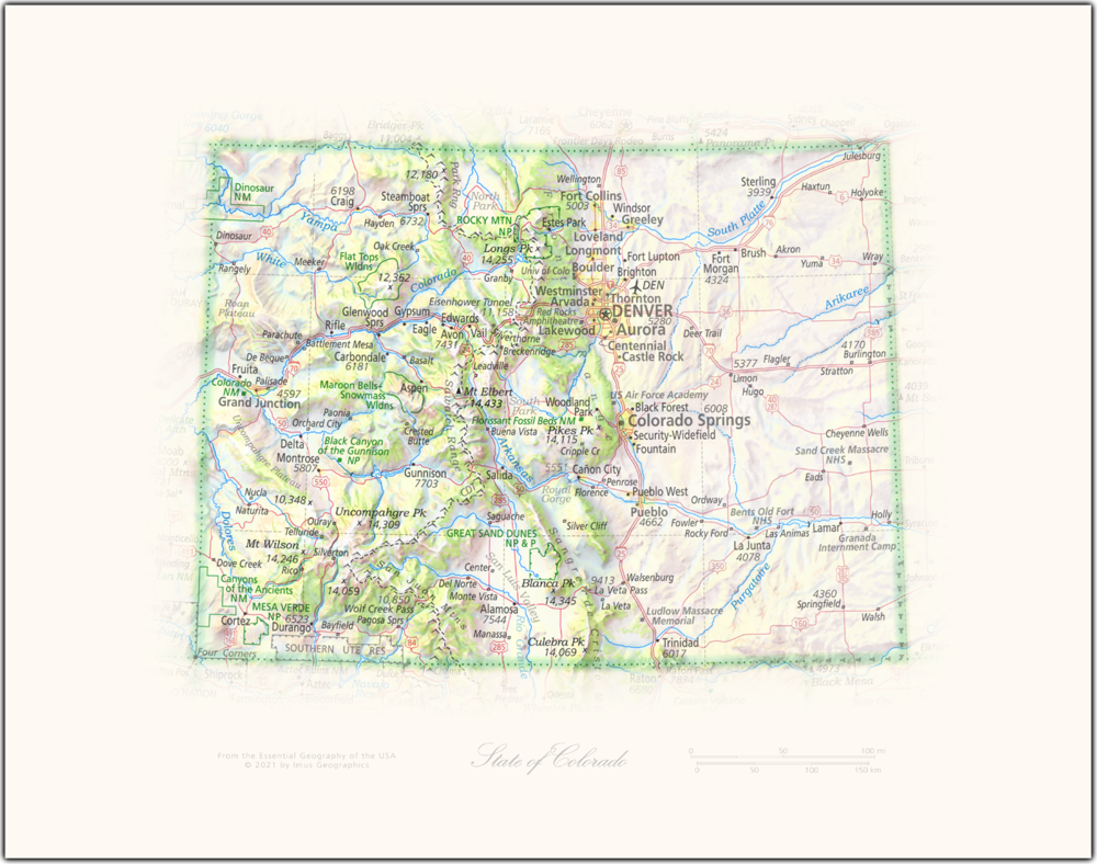 State of Colorado   State and Regional Portraits