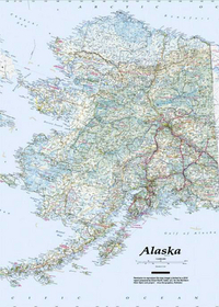 Image Alaska Topo-Travel-Reference Map