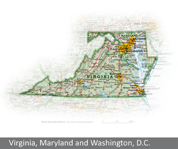 Virginia Maryland and Washington DC State and Regional Portraits