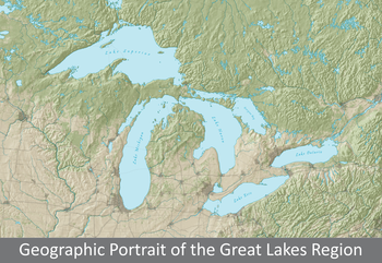 Image Geographic Illustration of the Great Lakes Region