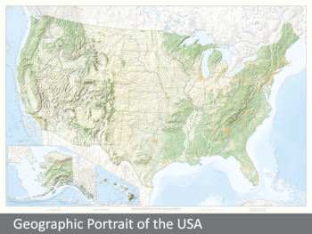 Image Geographic Portrait of the USA